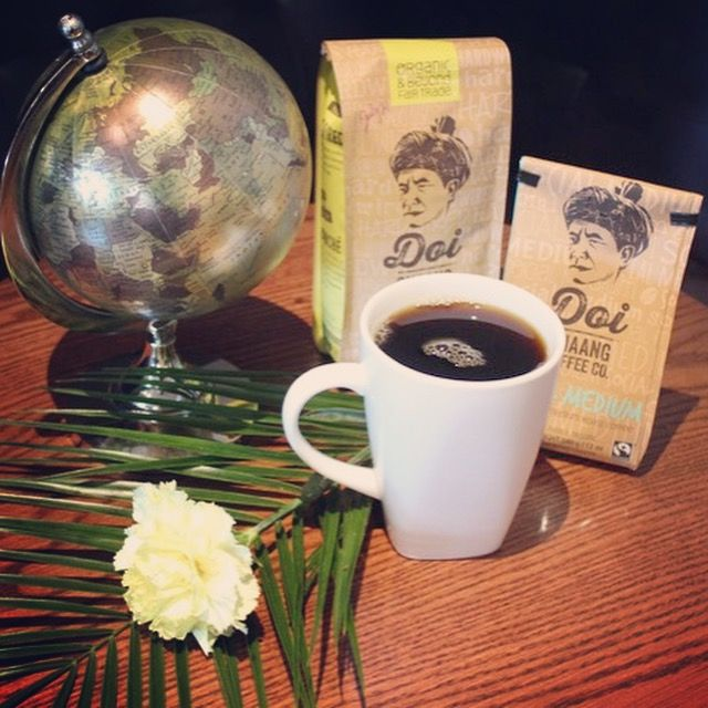 Currently brewing Doi Chang Coffee. Beans grown in Thailand, roasted in Vancouver. Try it hot or over ice @MainStreet1908 #downtowncamrose