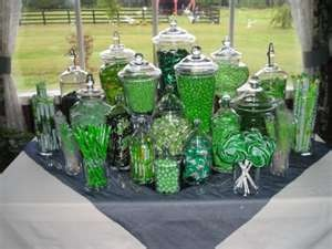 Green candy bar (Guest favors)
