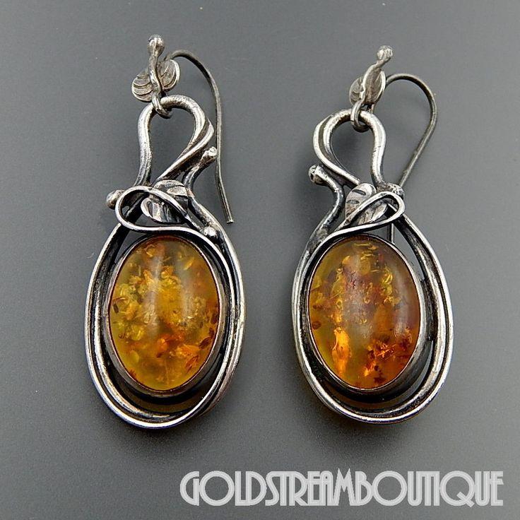 Amber Sterling Silver Classic Round Hook Earrings lid3J9XhXK