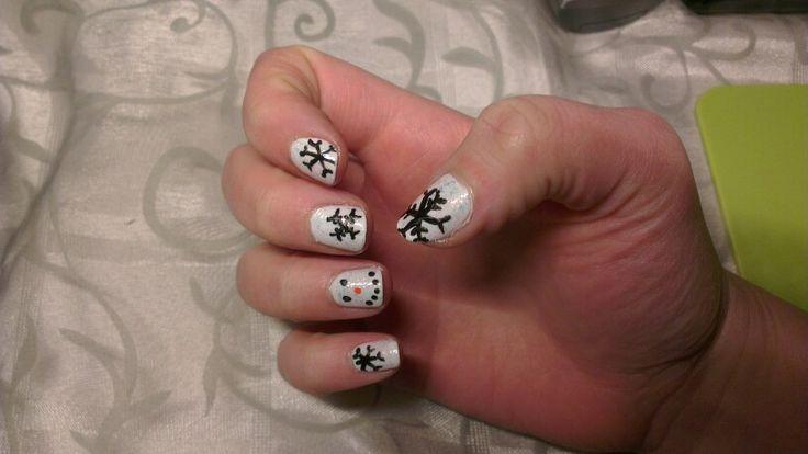 Sneeuwpop nagels