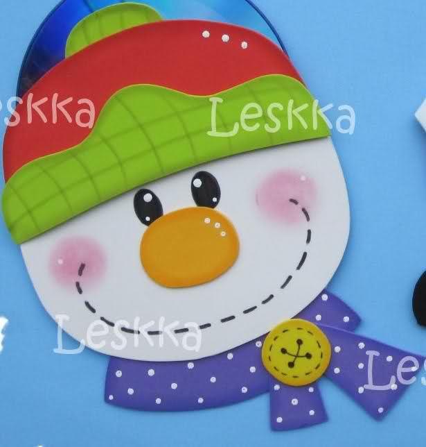 lindo muñeco de nieve para navidad de la web