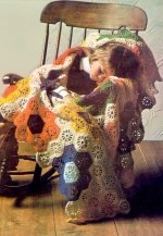Oh my. A crocheted version of Grandmother's flower garden.