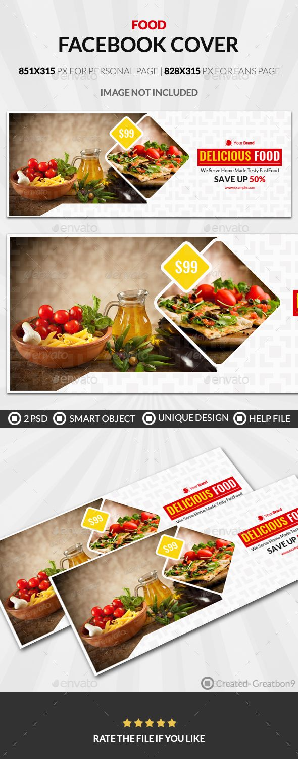 Food And Restaurant Business Facebook Cover Template PSD