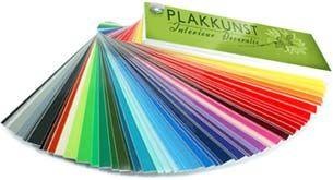 Plakkunst kleurenwaaier voor interieur decoratie