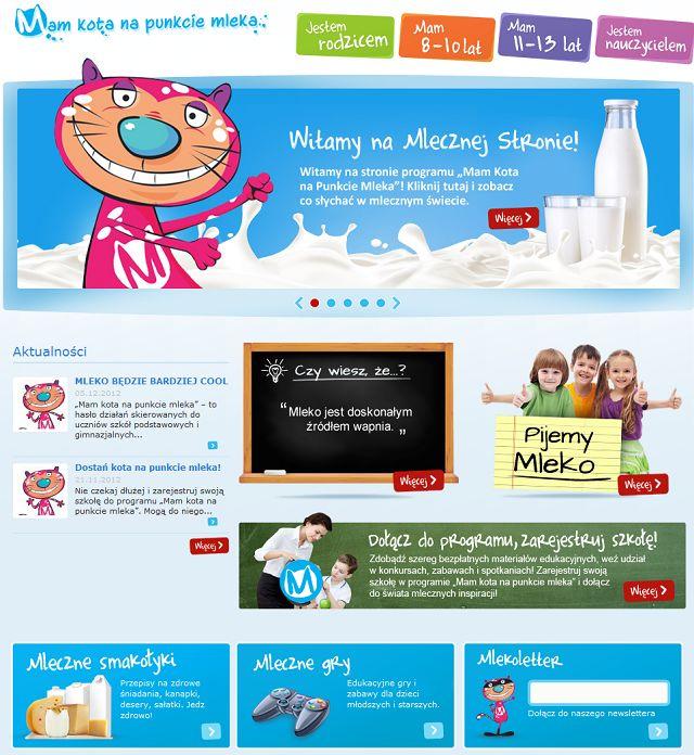 """Rusza kampania """"Mam kota na punkcie mleka"""":  Internet Site,  Website, Celem Jest, Kampanię Mam, Kampania Mam, Akcja Jest, Izbę Mleka, Jest Stworzeni, Jest Skierowana"""