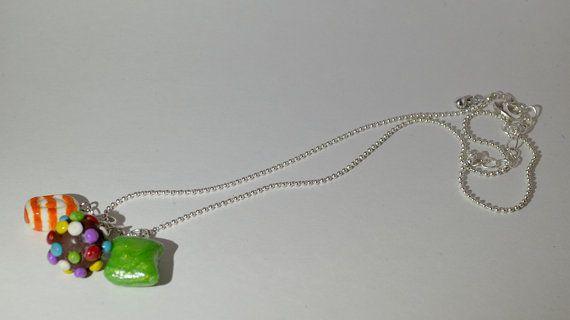 Candy Crush Necklace by KrissysKnitDesigns on Etsy, $18.00