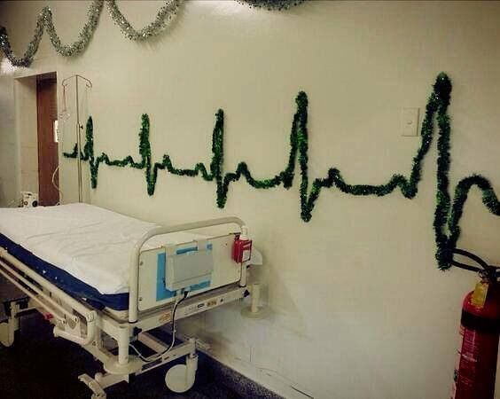 If that's a Christmassy (heart)beat, does that mean there's a little drummer boy somewhere in this hospital?