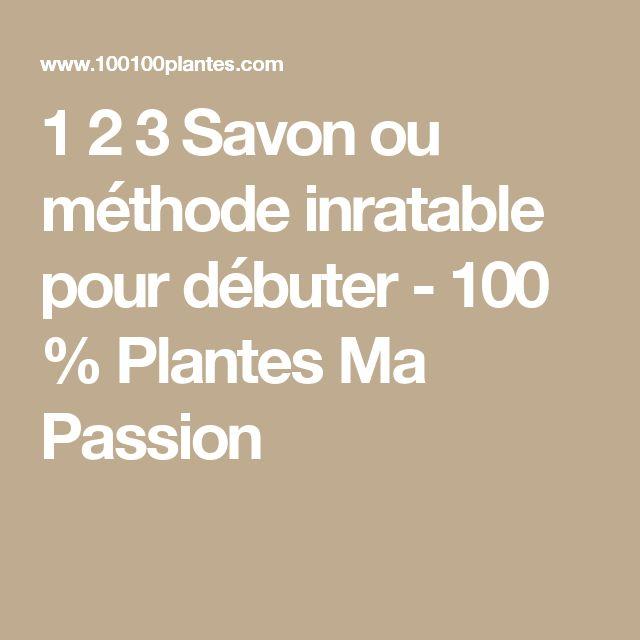 1 2 3 Savon ou méthode inratable pour débuter - 100 % Plantes Ma Passion