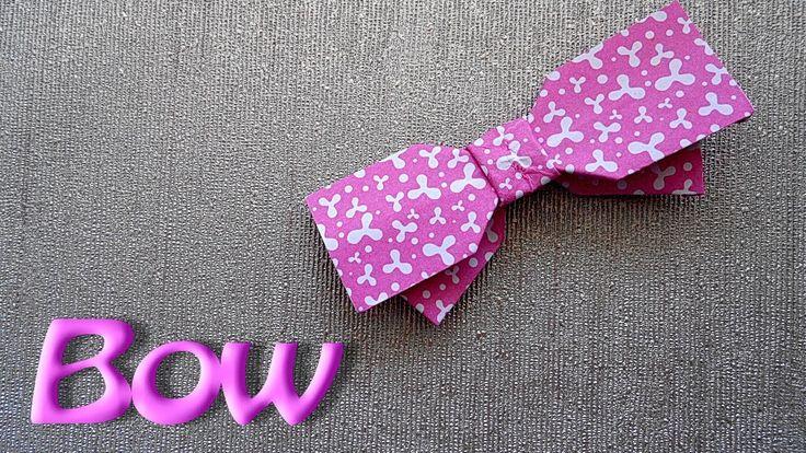 Как сделать оригами бант-галстук легко и просто!