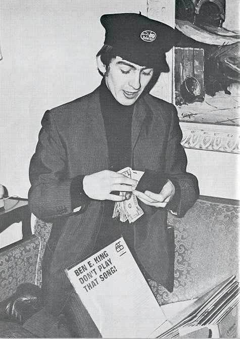 Beatle George Harrison circa early 1960's. (Hey George, I want your Beatles hat!)