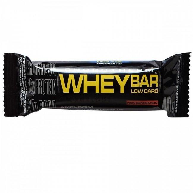 Whey Bar Low Carb 40gé uma barra composta por proteínas com destaque para Whey Protein.Whey Bar Low Carb 40gainda contém carboidratos, complementando a dieta diária.  http://www.umavidasaudavel.com.br/store/massa-muscular/barra-de-proteina/whey-bar-low-carb-40g-probiotica.html