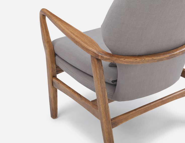 Grey Upholstered Elmwood Armchair Structube Klein