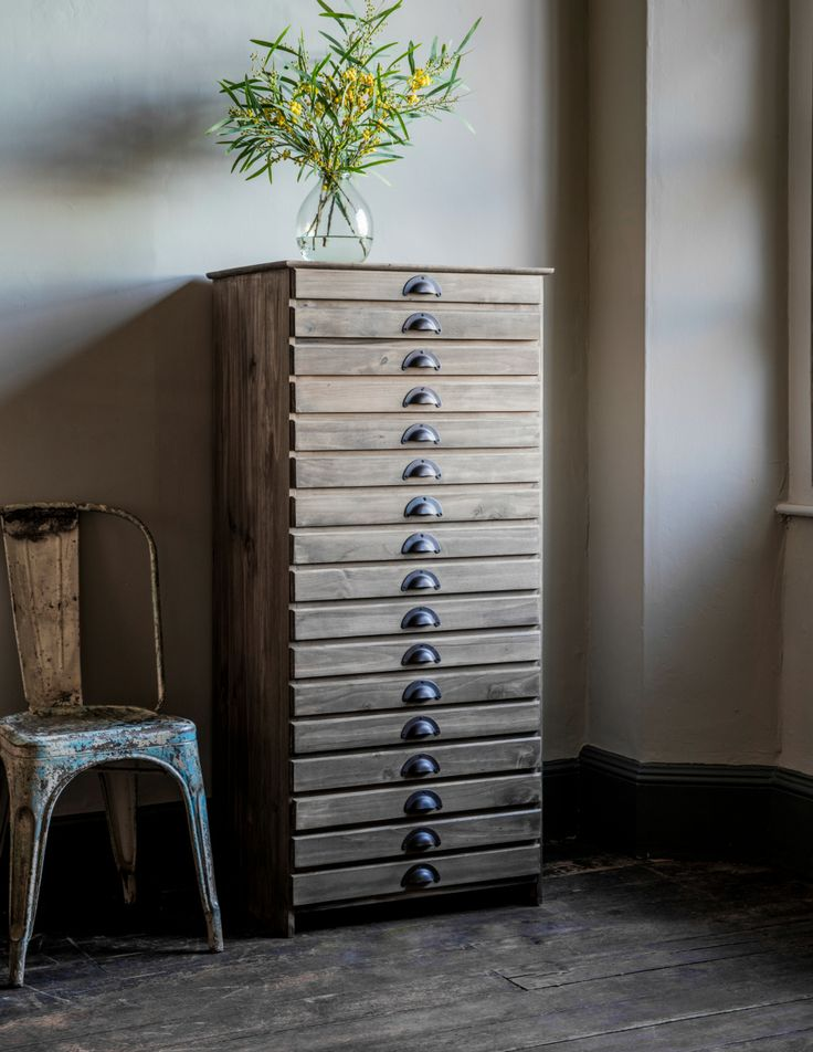 Tall Wooden Filing Cabinet, Eclectic Home Accessories And Stylish Furniture  For Vintage And Modern Living