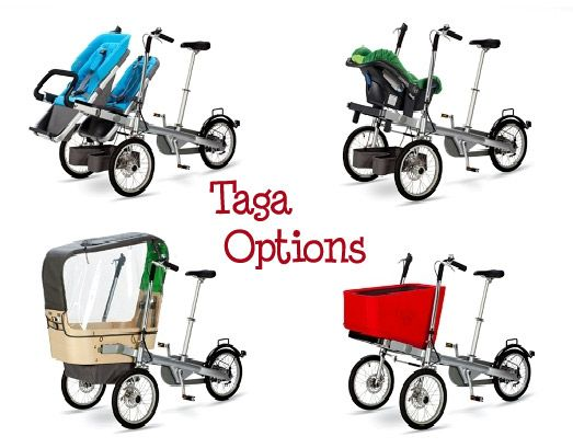 It's a bike, it's a stroller, it's a TAGA! I could possibly loose all the baby weight with this.