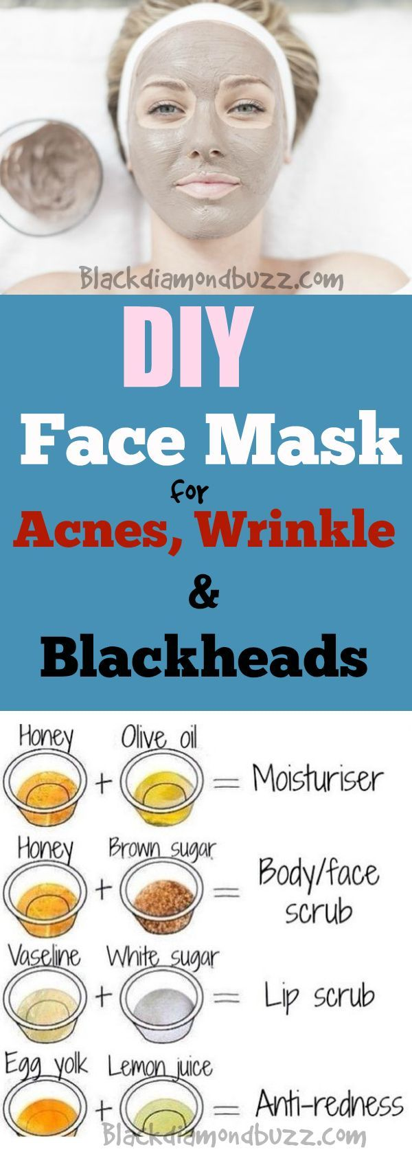 Best Homemade Face Mask for Acne Scars and Blackheads and wrinkle