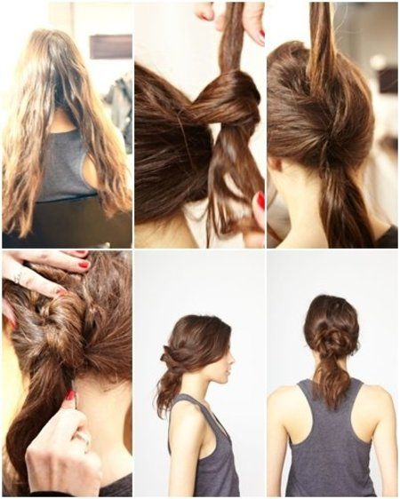 Knotted Up-do Hair Tutorial - Join bellashoot.com (Bellashoot iPhone App)