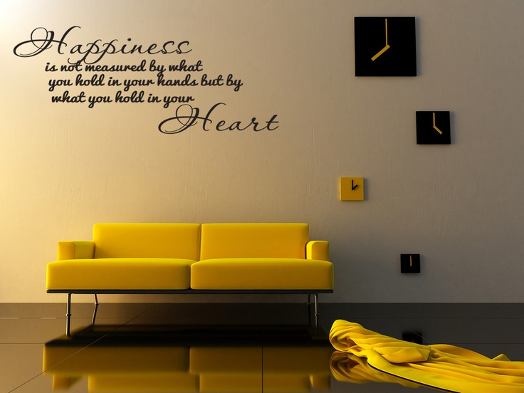 Happiness Home Bedroom Decor Vinyl Wall Quote Art Decal Lettering Saying
