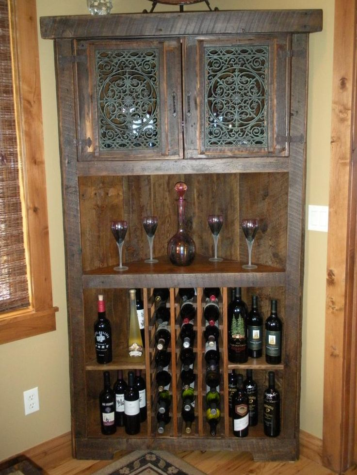wine cabinet that fits nicely in a corner that otherwise would go unused. I like it.