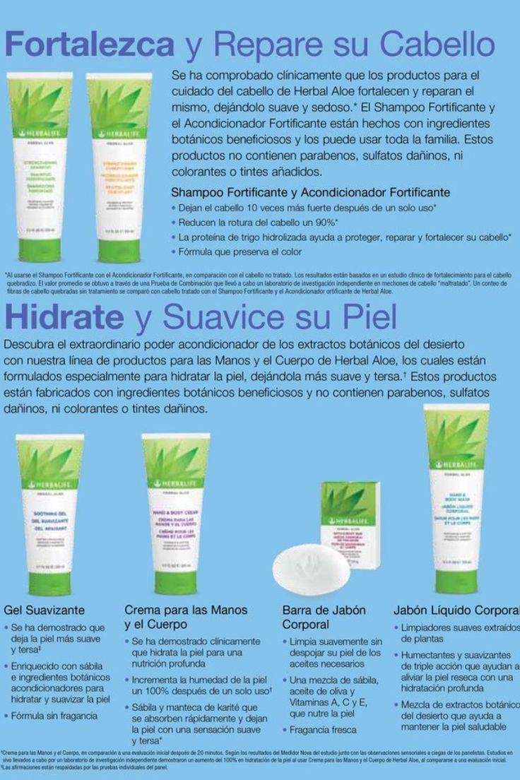 Herbalife, cabello, piel