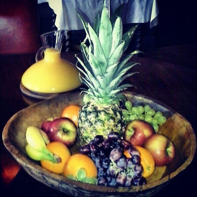 Fresh fruit Sunday brunches
