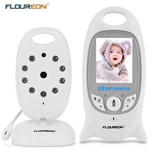 """FLOUREON VB601 - Vigilabebés digital con monitor y cámara inalámbrica (LCD de 2.0"""", 2.4 GHz, Visión nocturna por infrarrojos, Canciones de cuna), Color blanco #FLOUREON #Vigilabebés #digital #monitor #cámara #inalámbrica #(LCD #GHz, #Visión #nocturna #infrarrojos, #Canciones #cuna), #Color #blanco"""