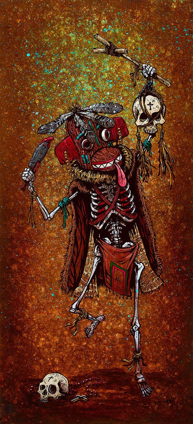 Priest Killer by David Lozeau Hopi Indians Kachina Canvas Art Print