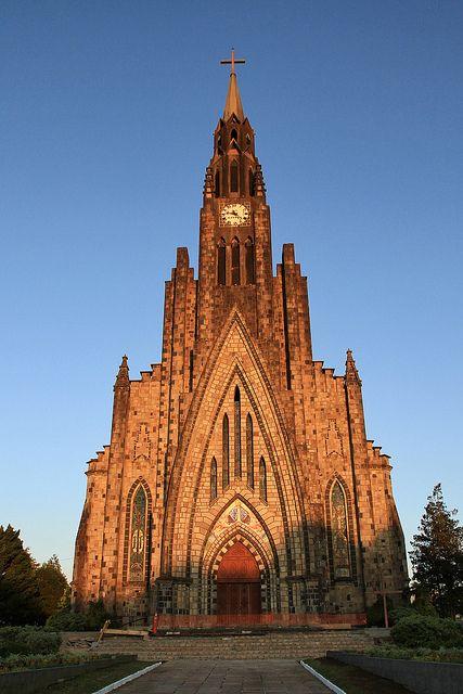 Catedral Nossa Senhora de Lourdes, Canela, Rio Grande do Sul, Brasil