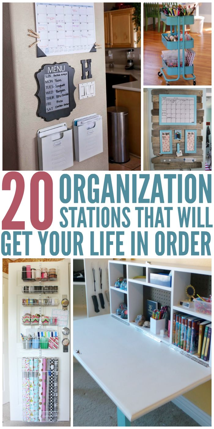 I love organizing hacks,and these stations are awesome! - One Crazy House