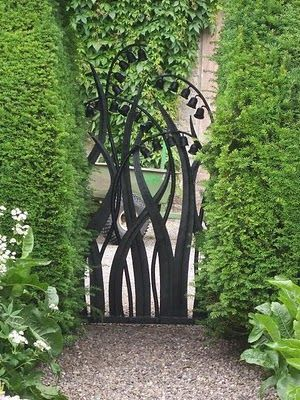 Beautiful Lily of the Valley iron gate.