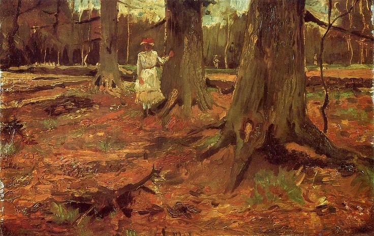 Vincent Van Gogh - A Girl in White in the Woods