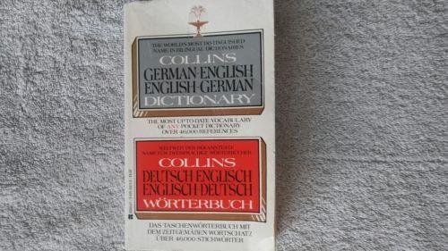 COLLINS GERMAN-ENGLISH/ENGLISH-GERMAN DICTIONARY, 1982~Berkley Ed.