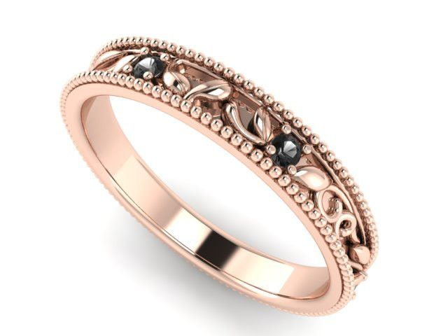 bohemian wedding rings wedding and engagement ring rose gold and black diamonds unique - Bohemian Wedding Rings