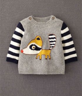 Raccoon Logo Jumper by Mini Boden