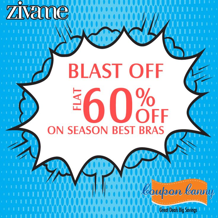Blast OFF: Flat 60% Off On Season Best Bras at ‪#‎Zivame‬! Claim Now : http://www.couponcanny.in/zivame-coupons/