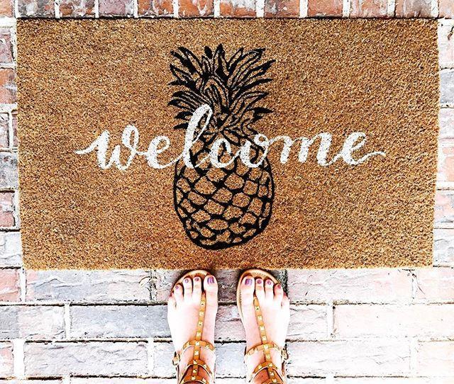Pineapple doormat at Target