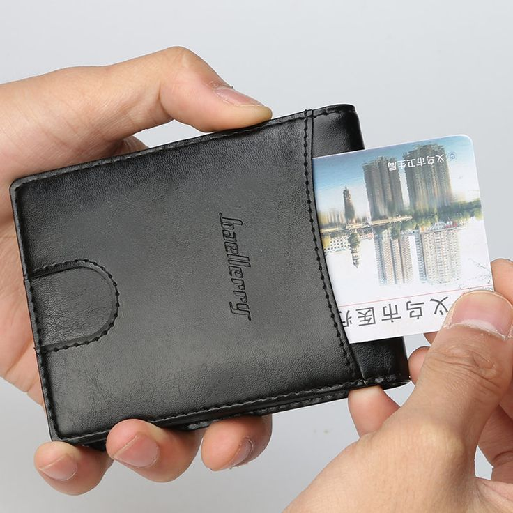 Baellerry Portable Credit Card Holder Vintage Money Clip Case Business ID Card Holder