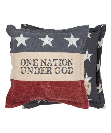 Loving this American Flag 'One Nation Under God' Throw Pillow on #zulily! #zulilyfinds