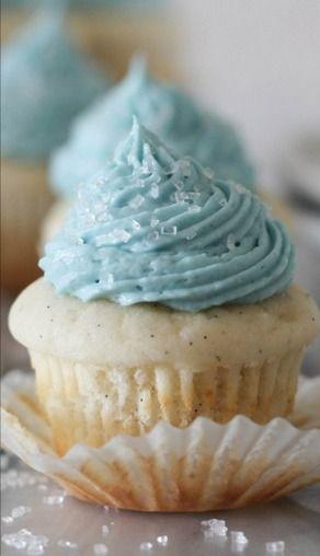 Mini Vanilla Bean Cupcakes with Vanilla Buttercream Frosting