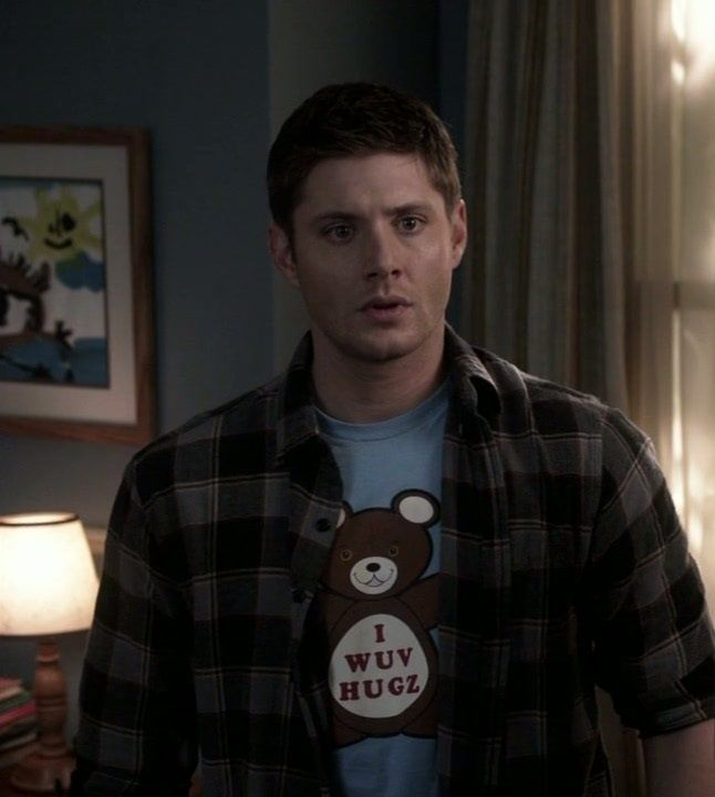 Dean Winchester, this shirt is too much but yet he makes it look cool!