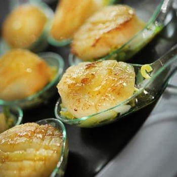 Noix de Saint-Jacques au vinaigre de mandarine