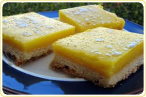 Stoner's Special Lemon Bars: Use glass baking dish, not metal. Gluten free version (using all purpose GF flour with 1 1/2 tsp xanthum gum added to crust only). Drizzle extra 2 Tbsp. softened butter in filling mix. Use fresh squeezed lemon juice (1/3 cup instead 1/4), lower baking temp for filling to 275 F. Cook for 20 min. Depending on your butter, they can take btwn 40 min - 1 hour 30 min to get good. (Usual ratio 1 oz to 1 lb)…