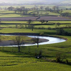 River Towy near Cwmcrwth Farm, Carmarthenshire, Wales