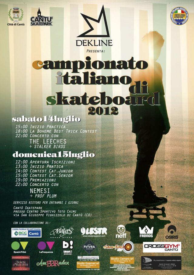 SKATEBOARD CONTEST: Campionato Italiano a Cantù