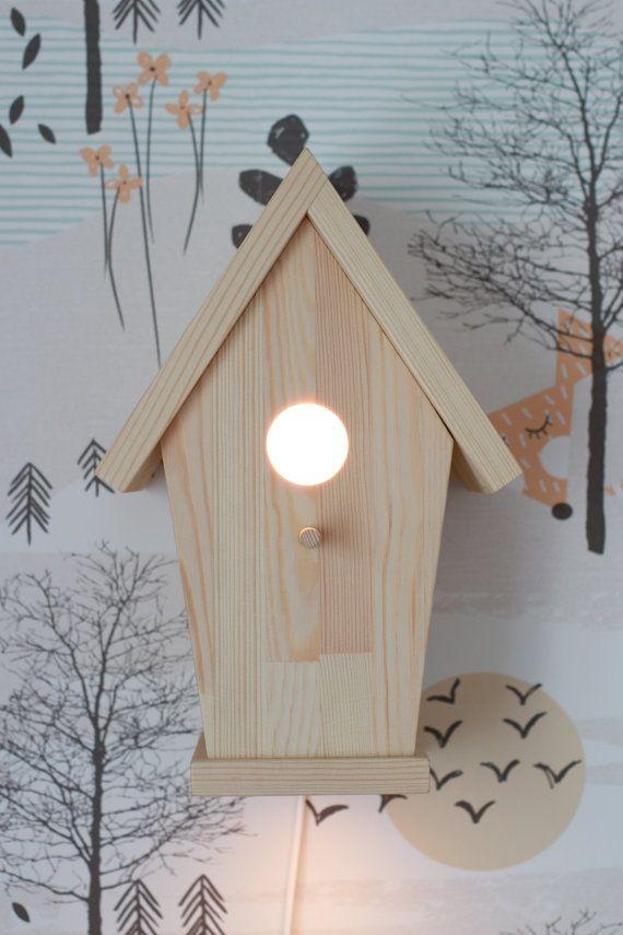 vogel haus lampe kinderzimmer lampe baby von. Black Bedroom Furniture Sets. Home Design Ideas