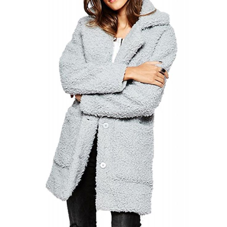 Palton Dama NOISY MAY Teddy Coat High-Rise