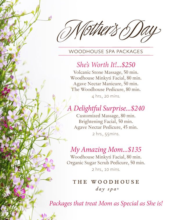 Spa deals mother's day