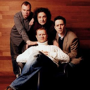 The League Of Gentlemen. Image shows from L to R: Steve Pemberton, Jeremy Dyson, Mark Gatiss, Reece Shearsmith. Image credit: Corbis.