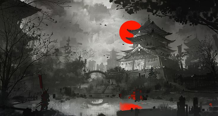 Zudarts Lee - A Blood Red Sunset Over Osaka