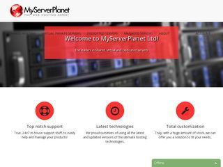 MyServerPlanet - RAM:256 MB - HDD:35 GB