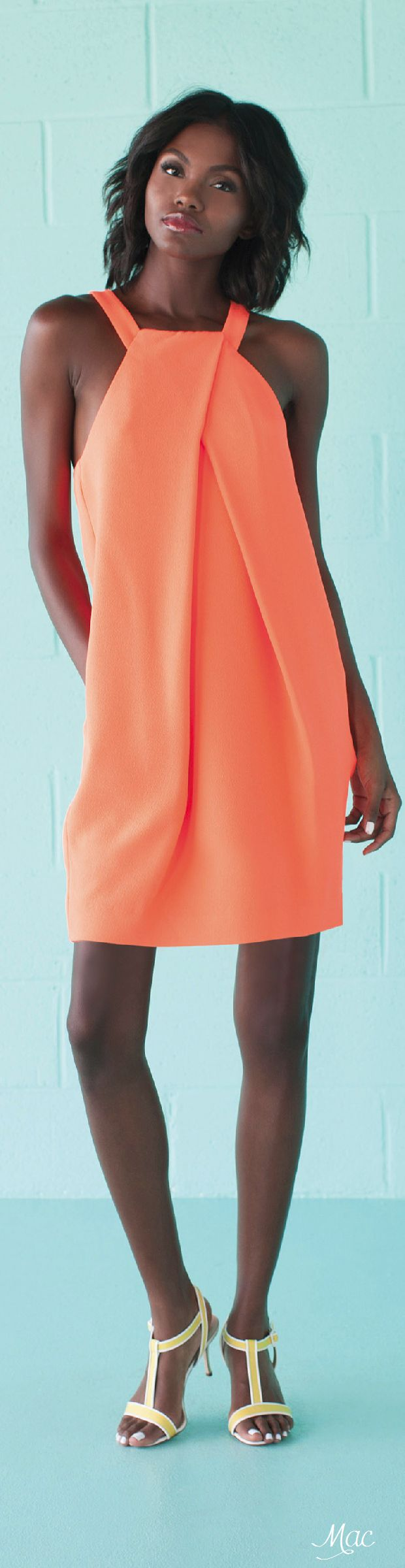 Spring 2016 Ready-to-Wear Trina Turk orange dress  women fashion outfit clothing stylish apparel @roressclothes closet ideas